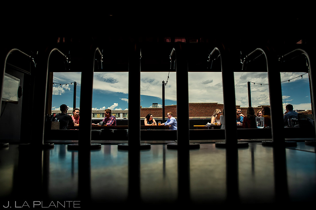 Bride and Groom at Brewery | RiNo Engagement | Denver Wedding Photographers | J. La Plante Photo