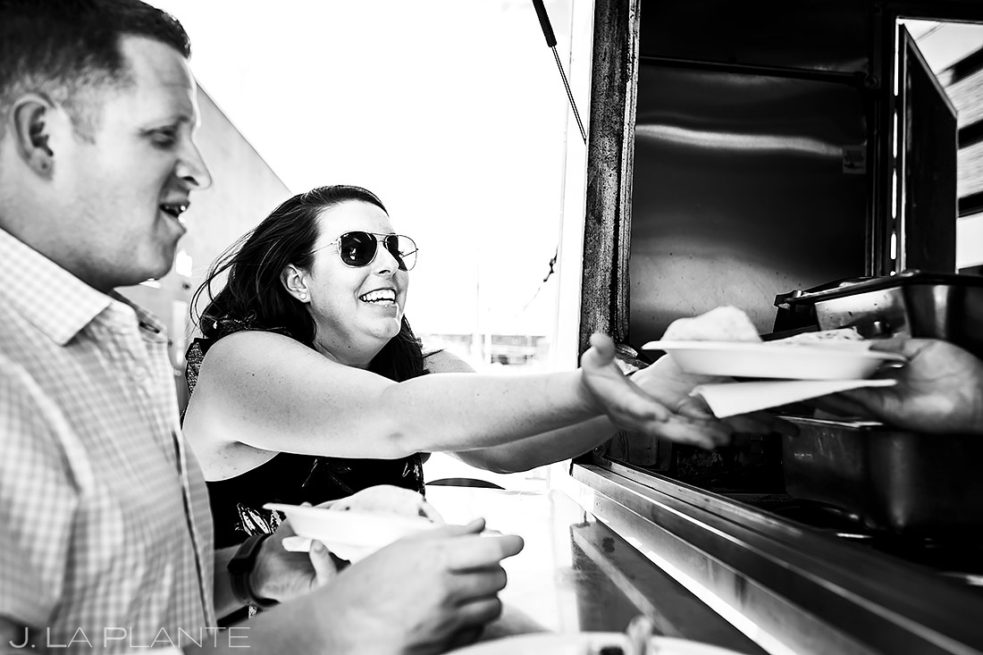 Bride and Groom Food Truck | Denver Pre-wedding Photos | Denver Wedding Photographers | J. La Plante Photo