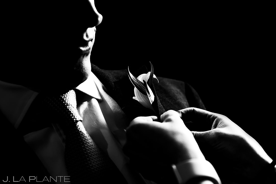 Groom Getting Ready | Tenmile Station Wedding | Breckenridge Wedding Photographer | J. La Plante Photo
