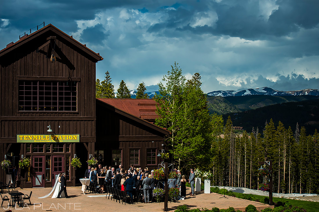 Mountain Wedding Ceremony | Tenmile Station Wedding | Breckenridge Wedding Photographer | J. La Plante Photo
