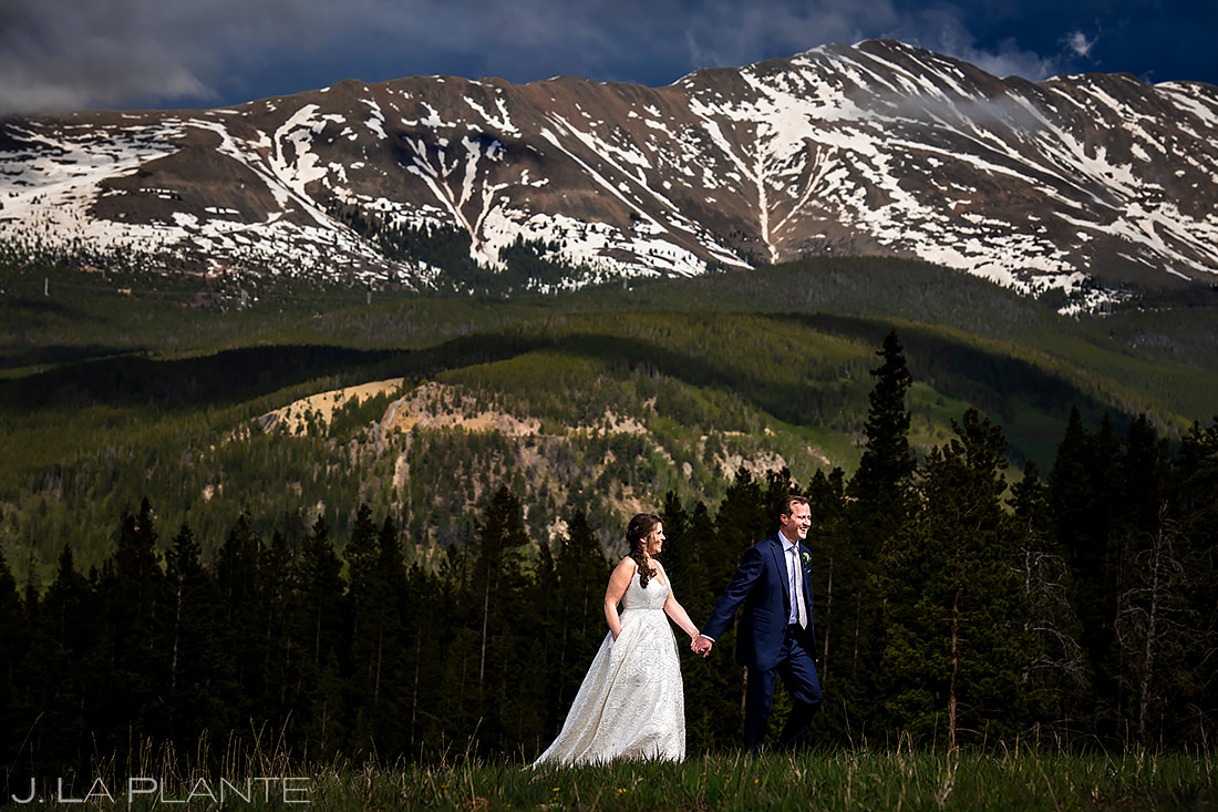 Bride and Groom Portrait | Tenmile Station Wedding | Breckenridge Wedding Photographer | J. La Plante Photo