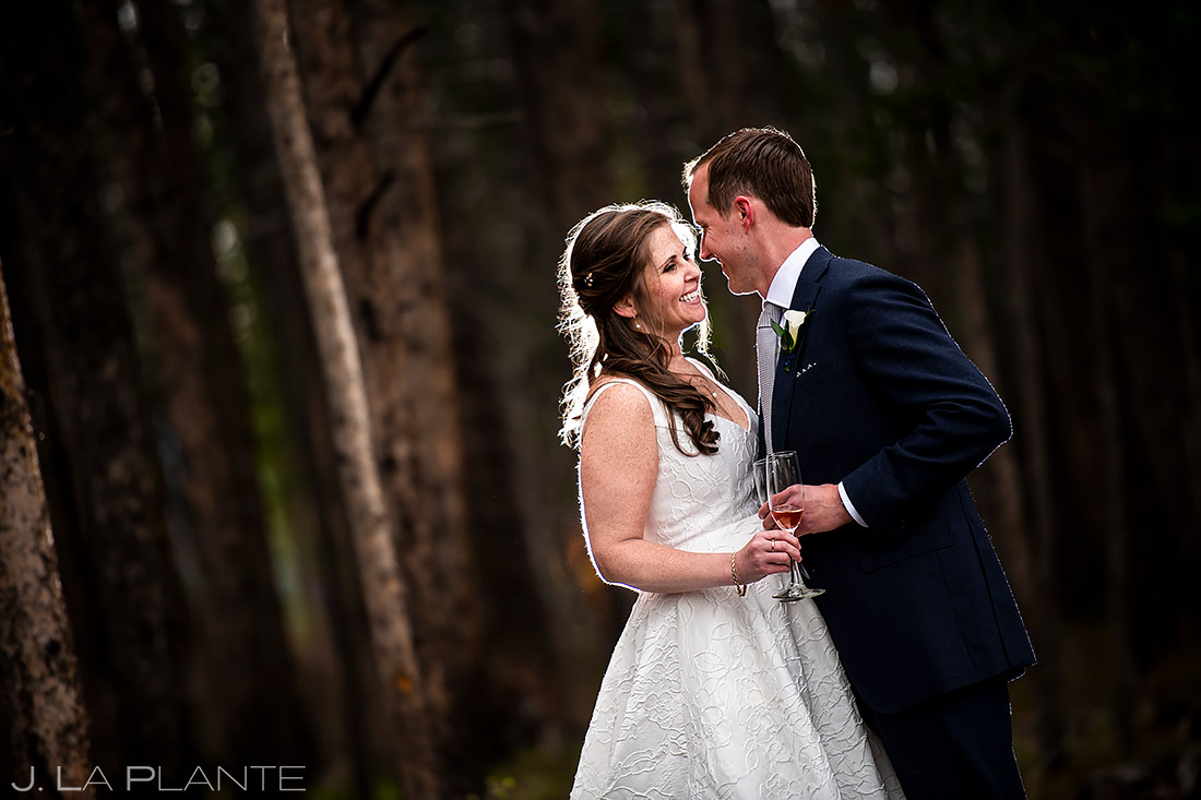 Bride and Groom Portrait | Breckenridge Wedding | Breckenridge Wedding Photographer | J. La Plante Photo