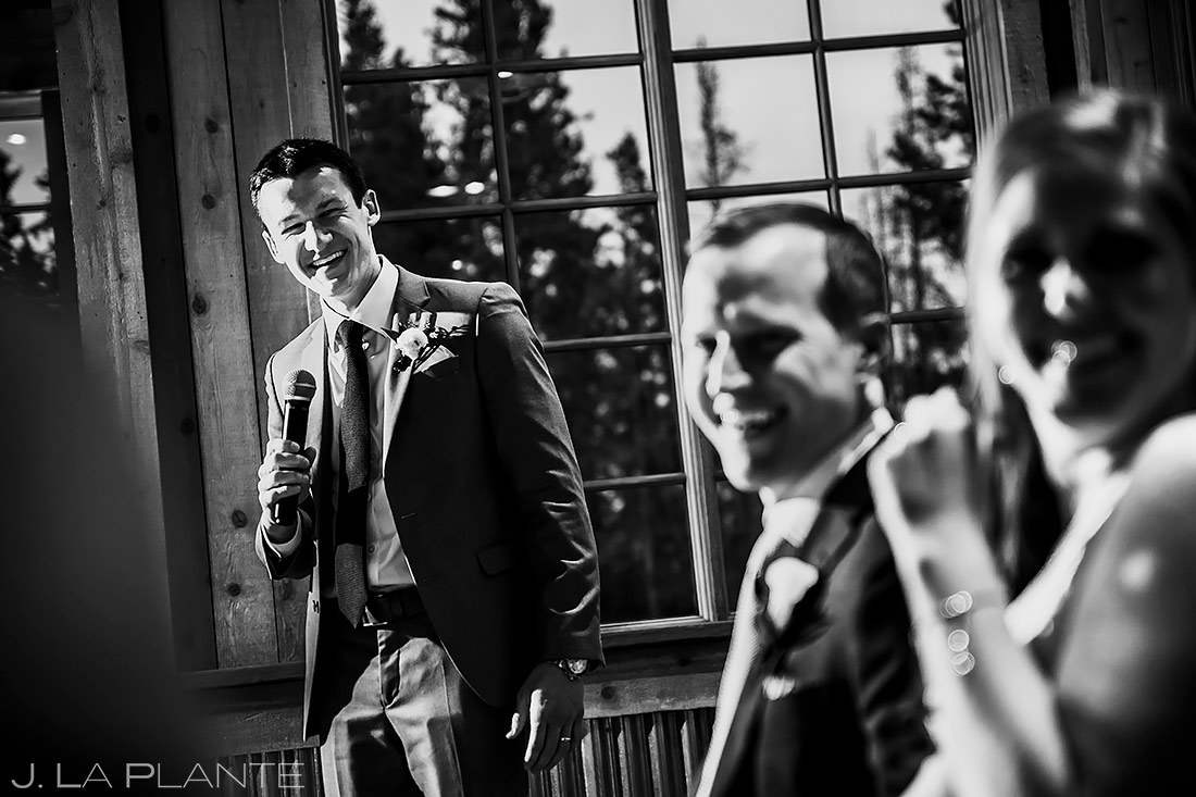 Wedding Toasts | Tenmile Station Wedding | Breckenridge Wedding Photographer | J. La Plante Photo