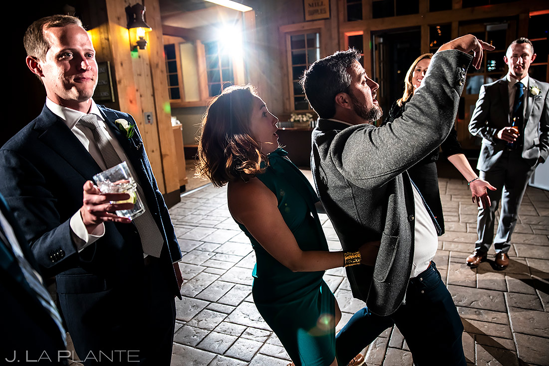 Wedding Reception Dance Party | Tenmile Station Wedding | Breckenridge Wedding Photographer | J. La Plante Photo