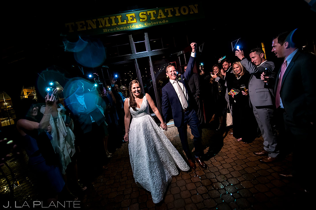 Bride and Groom Send Off | Tenmile Station Wedding | Breckenridge Wedding Photographer | J. La Plante Photo