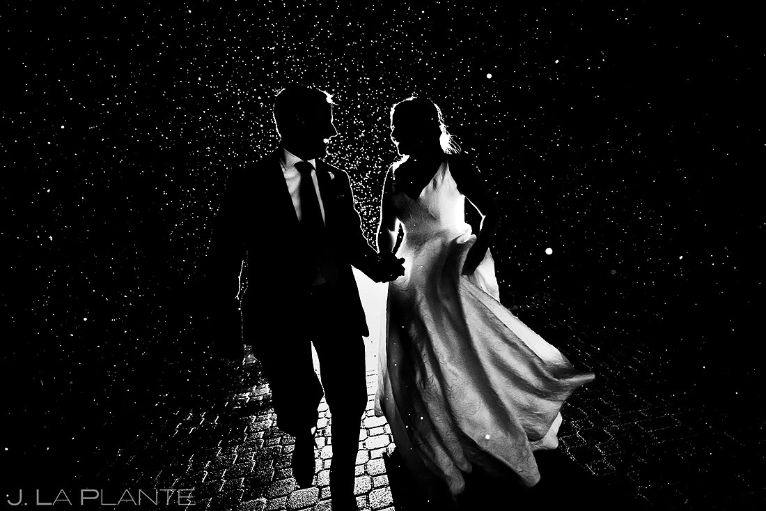Bride and Groom in the Snow | Tenmile Station Wedding | Breckenridge Wedding Photographer | J. La Plante Photo