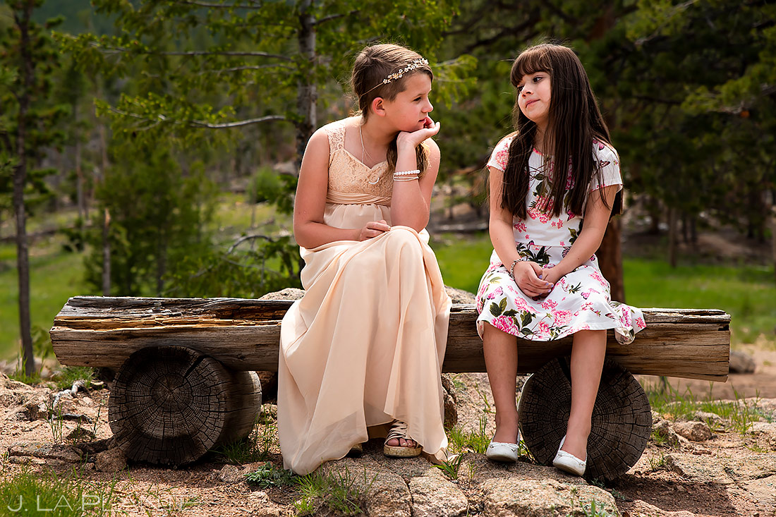 Flower Girls | Lily Lake Wedding | Estes Park Wedding Photographer | J. La Plante Photo