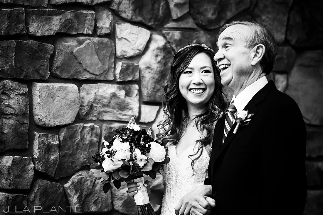Father of the Bride | Black Canyon Inn Wedding | Estes Park Wedding Photographer | J. La Plante Photo