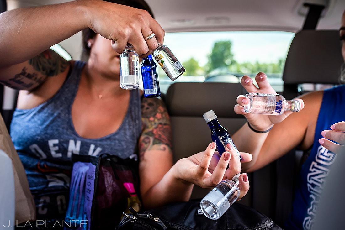 Bridesmaids Doing Shots | Lionsgate Wedding | Boulder Wedding Photographer | J. La Plante Photo
