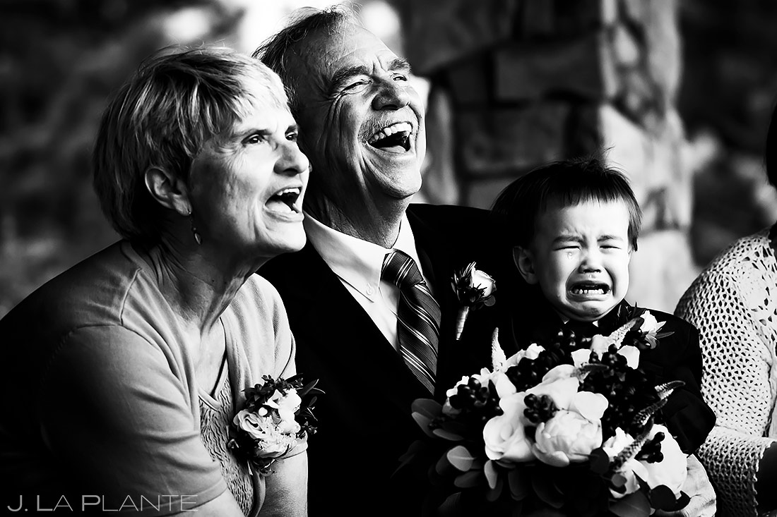 Parents of the Bride Laughing | Black Canyon Inn Wedding | Estes Park Wedding Photographer | J. La Plante Photo