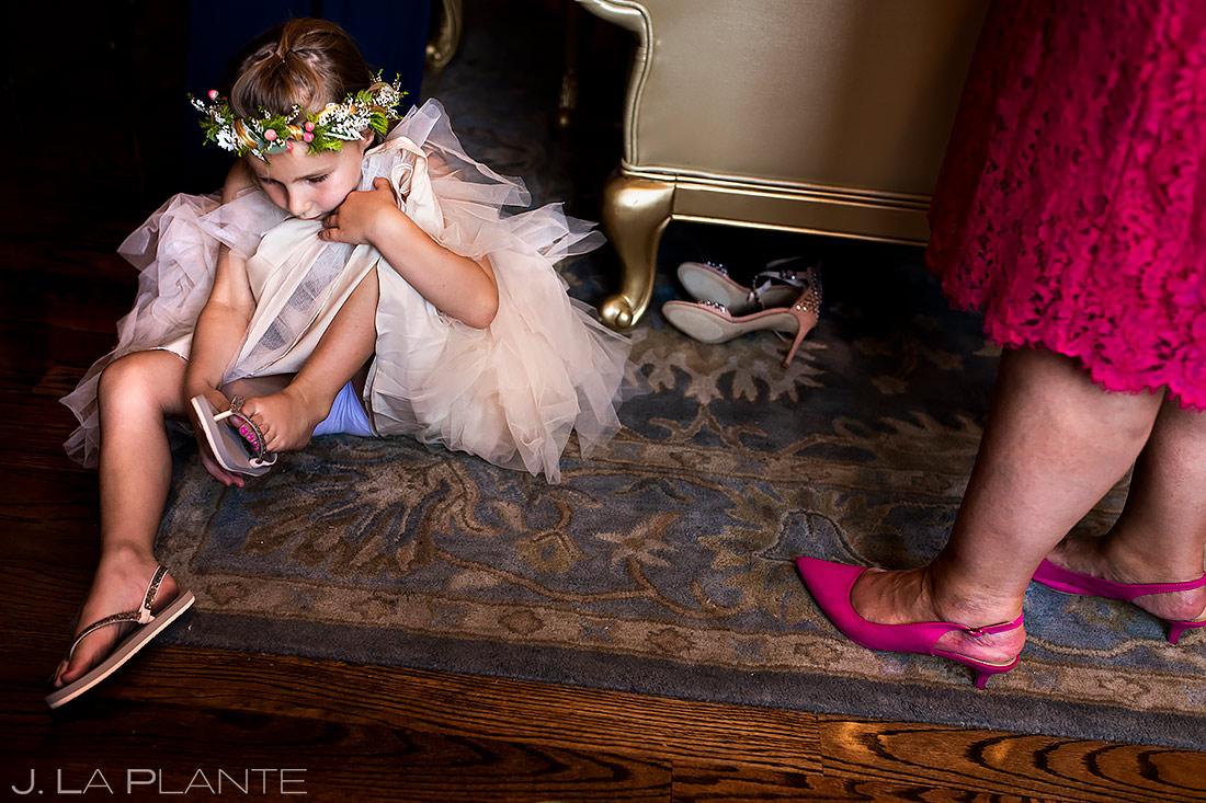 Flower Girl Getting Ready | Lionsgate Wedding | Boulder Wedding Photographer | J. La Plante Photo