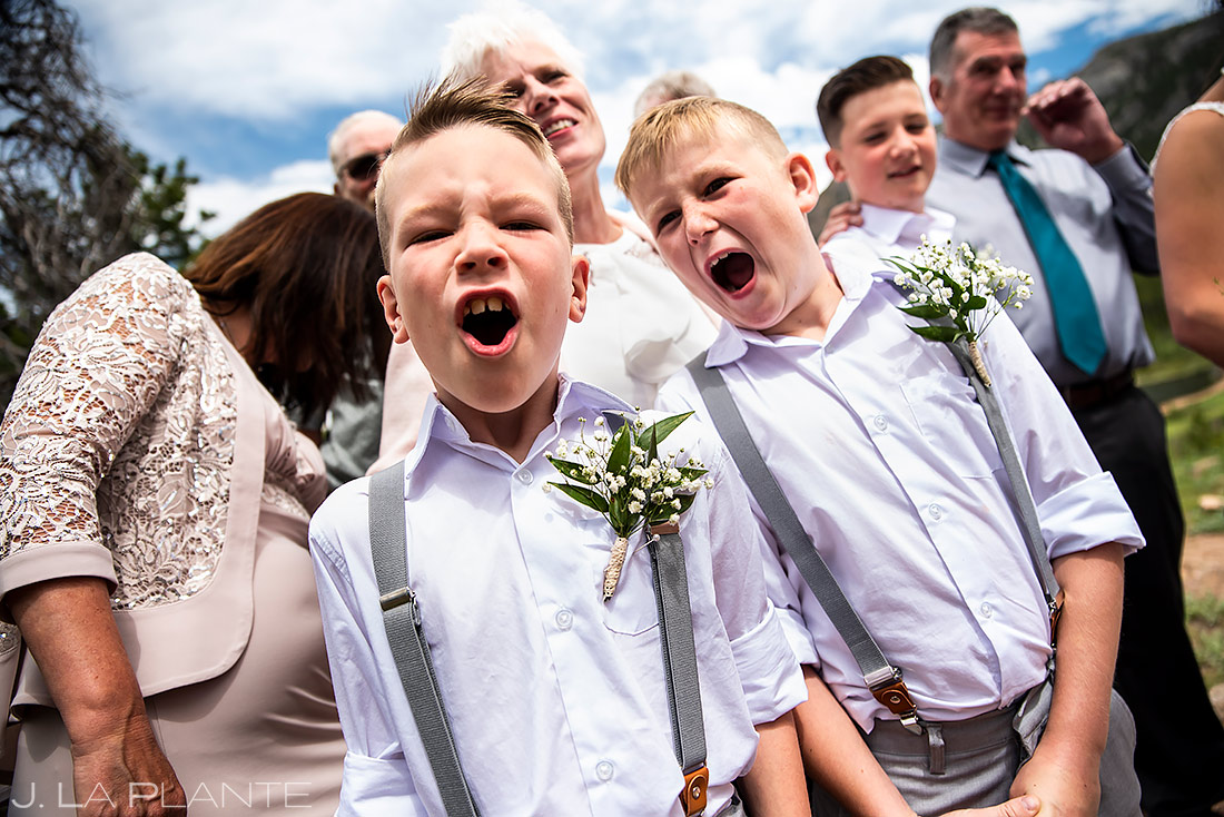 Funny Wedding Kids | Lily Lake Wedding | Estes Park Wedding Photographer | J. La Plante Photo