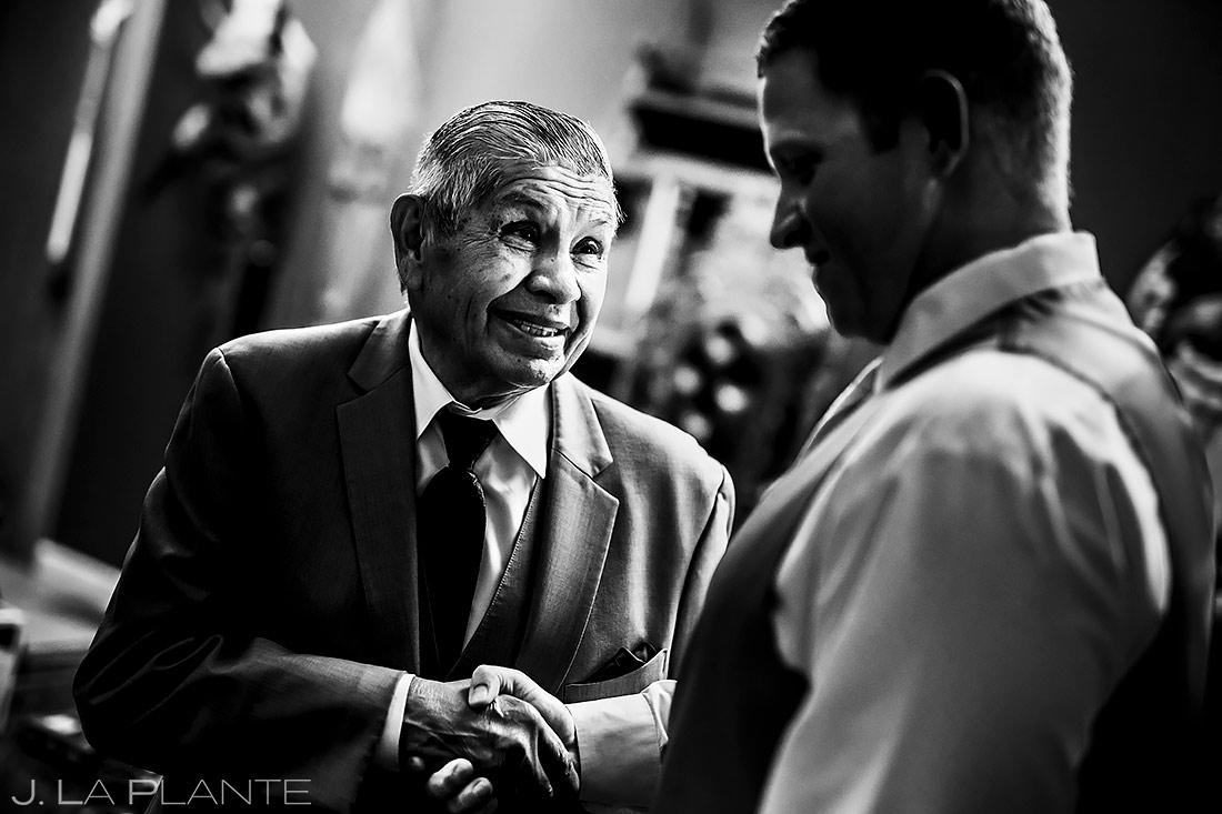 Groom with Father of the Bride | Lafayette Colorado Wedding | Boulder Wedding Photographer | J. La Plante Photo