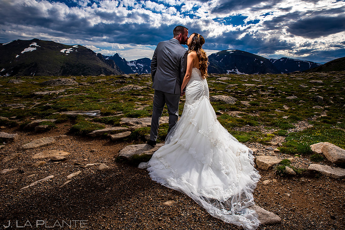 Bride and Groom in the Mountains | Rocky Mountain National Park Wedding | Estes Park Wedding Photographer | J. La Plante Photo