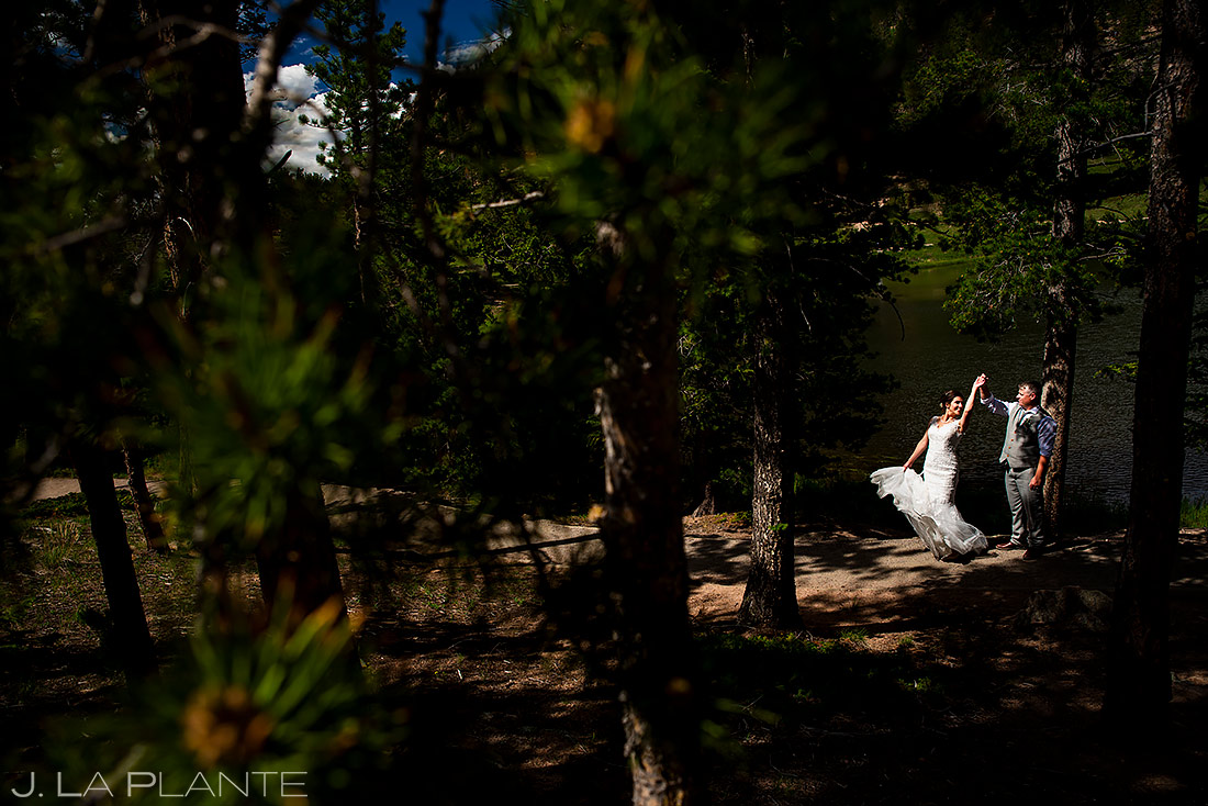 Bride and Groom Dancing | Lily Lake Wedding | Estes Park Wedding Photographer | J. La Plante Photo