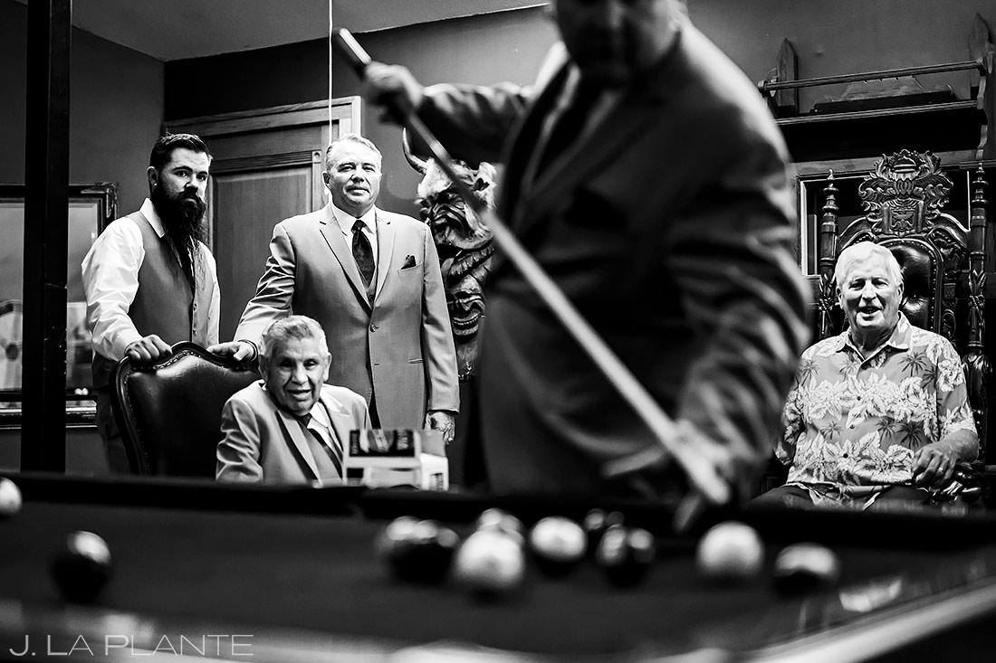 Groomsmen Playing Pool | Lionsgate Wedding | Boulder Wedding Photographer | J. La Plante Photo