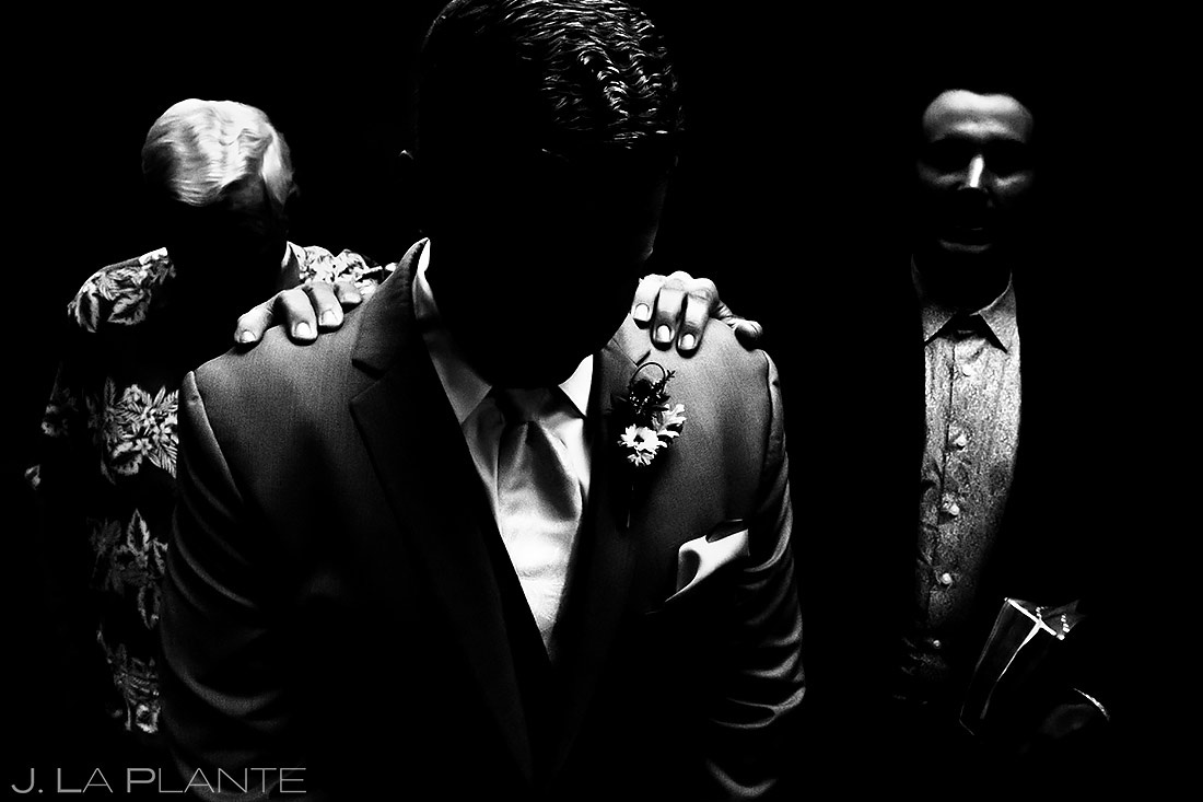 Groom Praying Before Ceremony | Lionsgate Wedding | Boulder Wedding Photographer | J. La Plante Photo