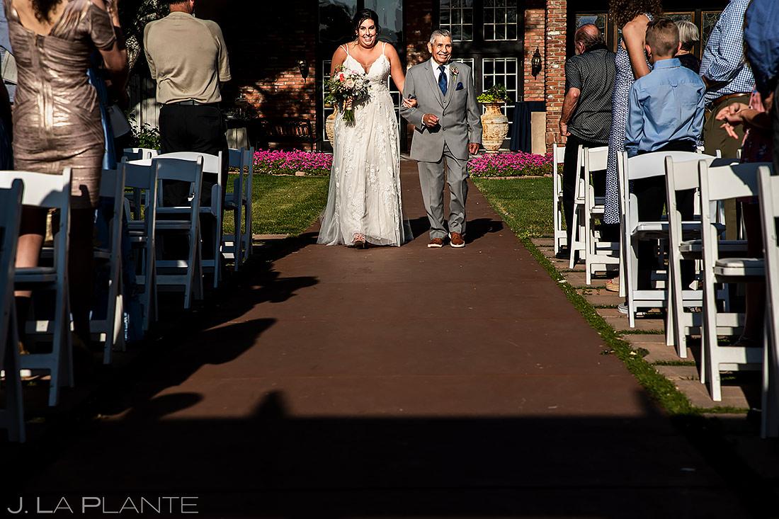 Bride Walking Down the Aisle | Lionsgate Wedding | Boulder Wedding Photographer | J. La Plante Photo