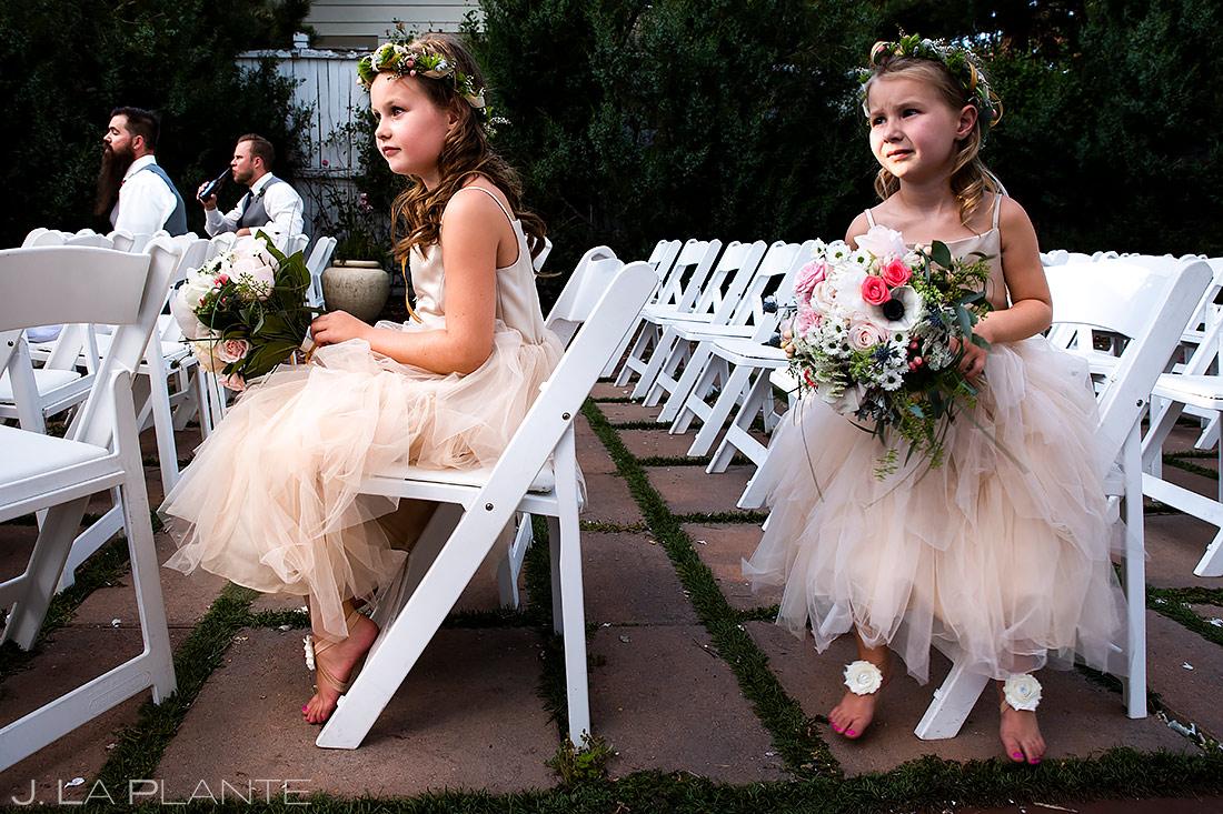 Cute Flower Girls | Lionsgate Wedding | Boulder Wedding Photographer | J. La Plante Photo