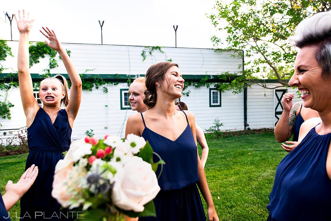 Boquet Toss | Lionsgate Wedding | Boulder Wedding Photographer | J. La Plante Photo