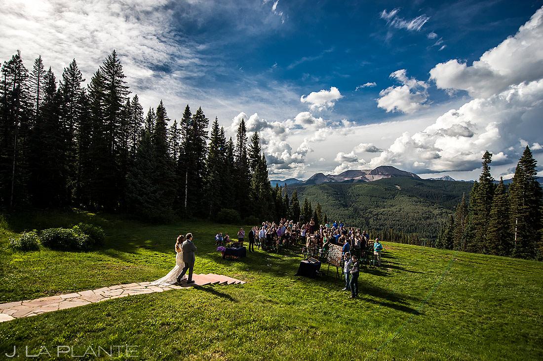 Wedding ceremony at Purgatory Resort | Best wedding venues in Colorado
