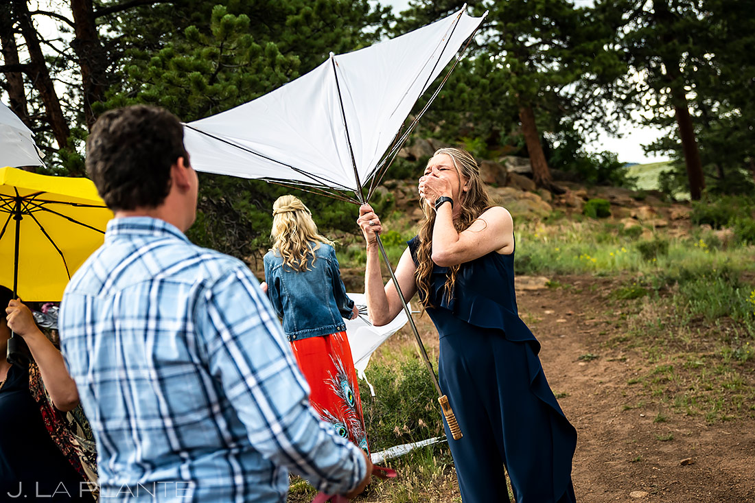 Funny Wedding Moments | 3M Curve Wedding | Rocky Mountain National Park Wedding Photographer | J. La Plante Photo
