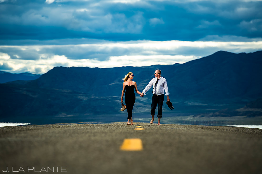 Unique Engagement Photo Ideas | Bonneville Salt Flats Engagement Session | Destination Wedding Photographer | J. La Plante Photo
