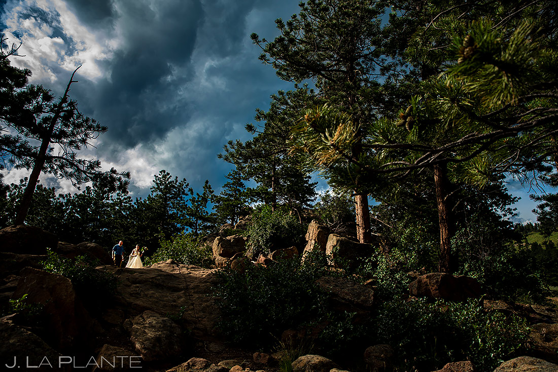Bride Walking Down Aisle | 3M Curve Wedding | Rocky Mountain National Park Wedding Photographer | J. La Plante Photo