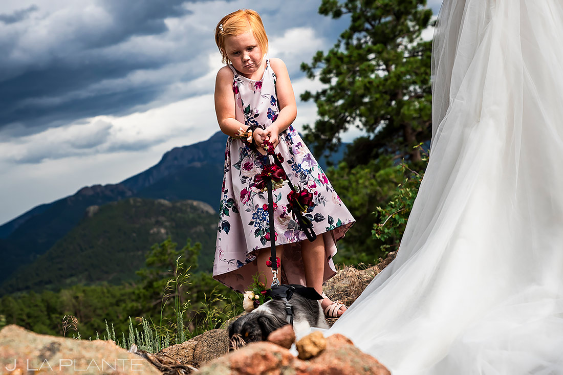 Kids at Weddings | 3M Curve Wedding | Rocky Mountain National Park Wedding Photographer | J. La Plante Photo