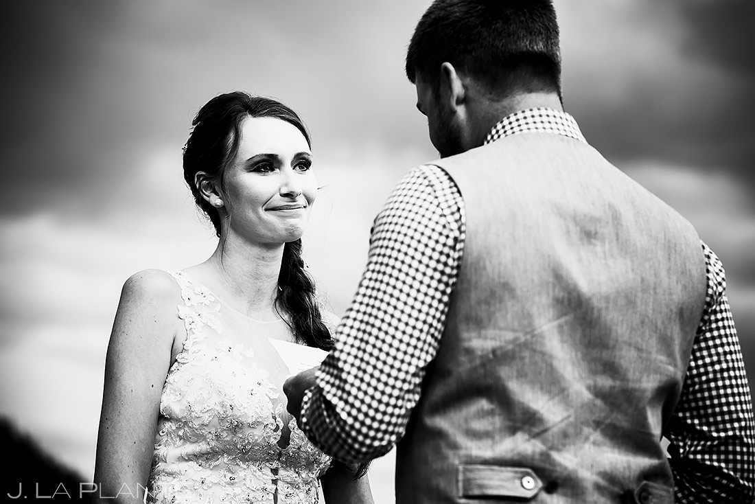 Wedding Vows | 3M Curve Wedding | Rocky Mountain National Park Wedding Photographer | J. La Plante Photo