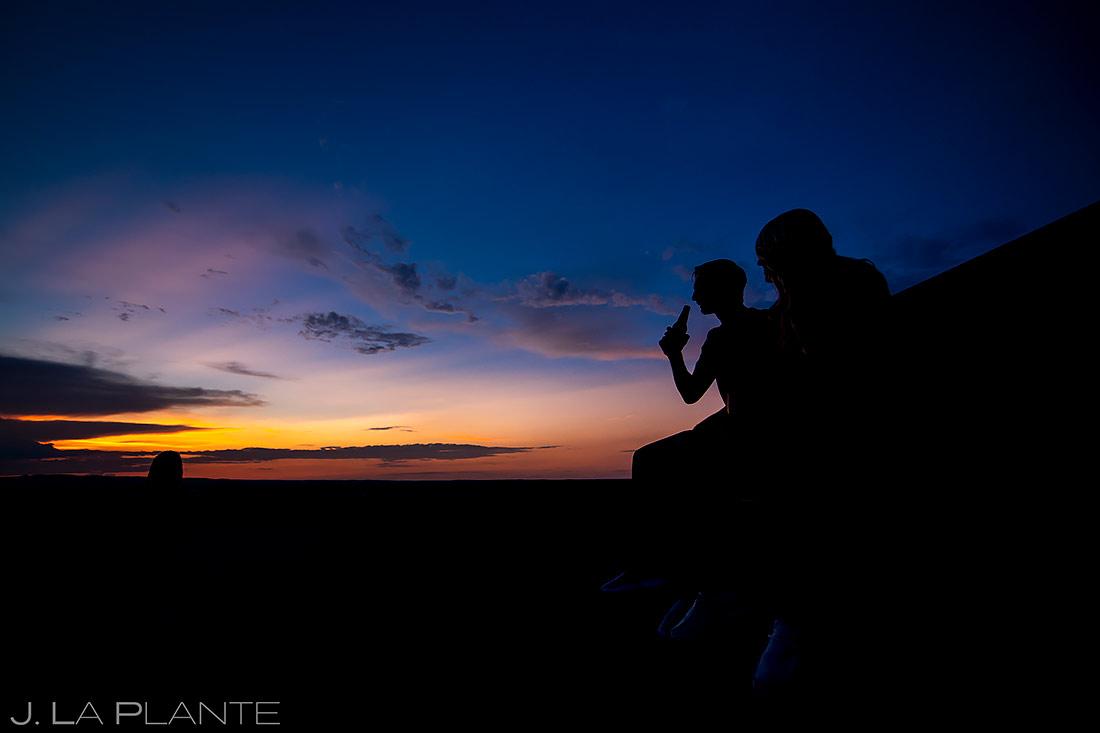 Sunset Engagement Photo | Paint Mines Engagement Session | Colorado Springs Wedding Photographers | J. La Plante Photo