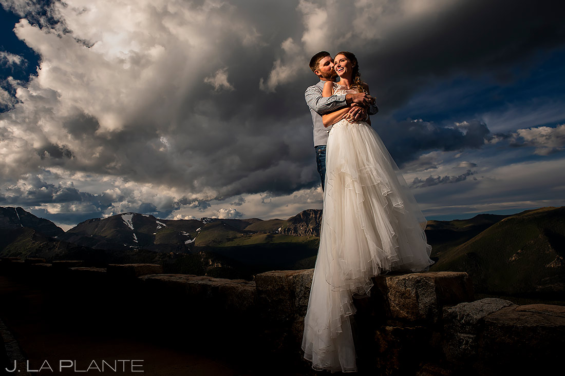Bride and Groom Portrait | 3M Curve Wedding | Rocky Mountain National Park Wedding Photographer | J. La Plante Photo