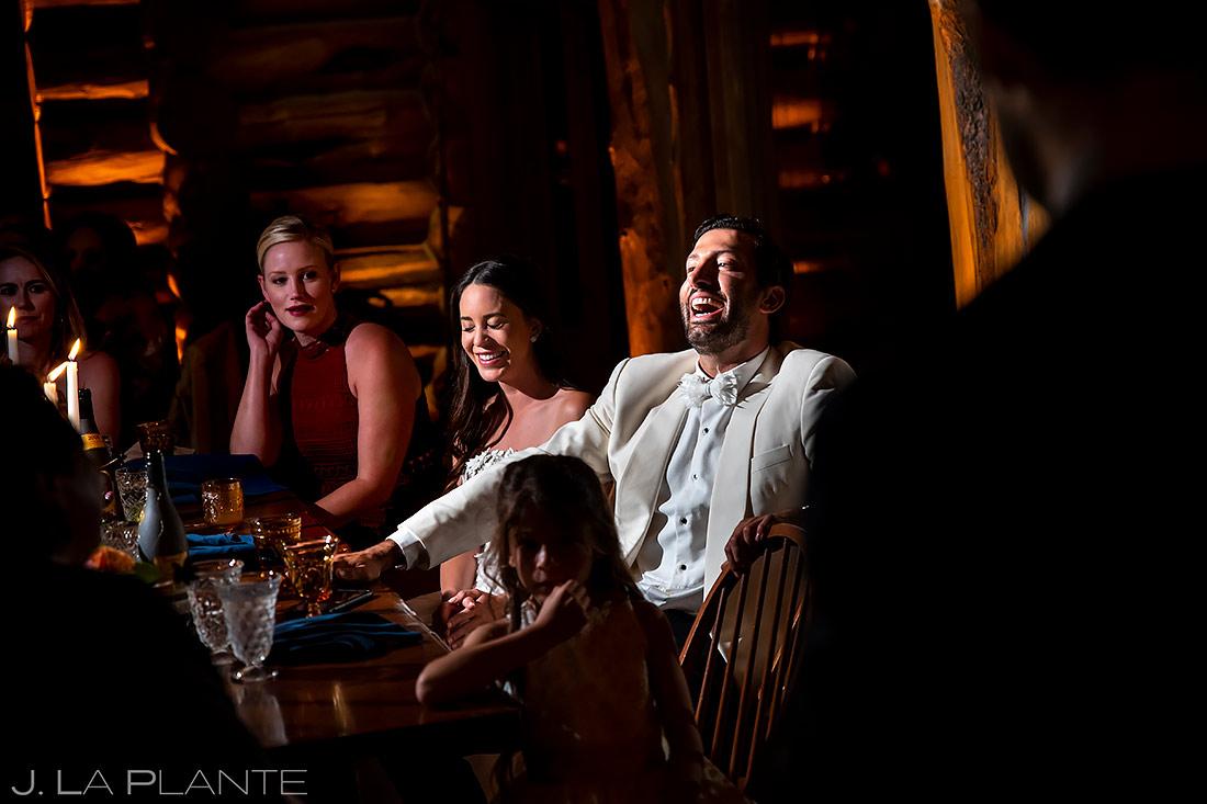 Wedding Toasts | Pine Creek Cookhouse Wedding | Aspen Wedding Photographer | J. La Plante Photo