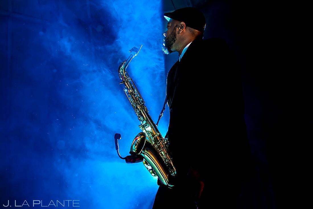 Wedding Sax Player | Pine Creek Cookhouse Wedding | Aspen Wedding Photographer | J. La Plante Photo
