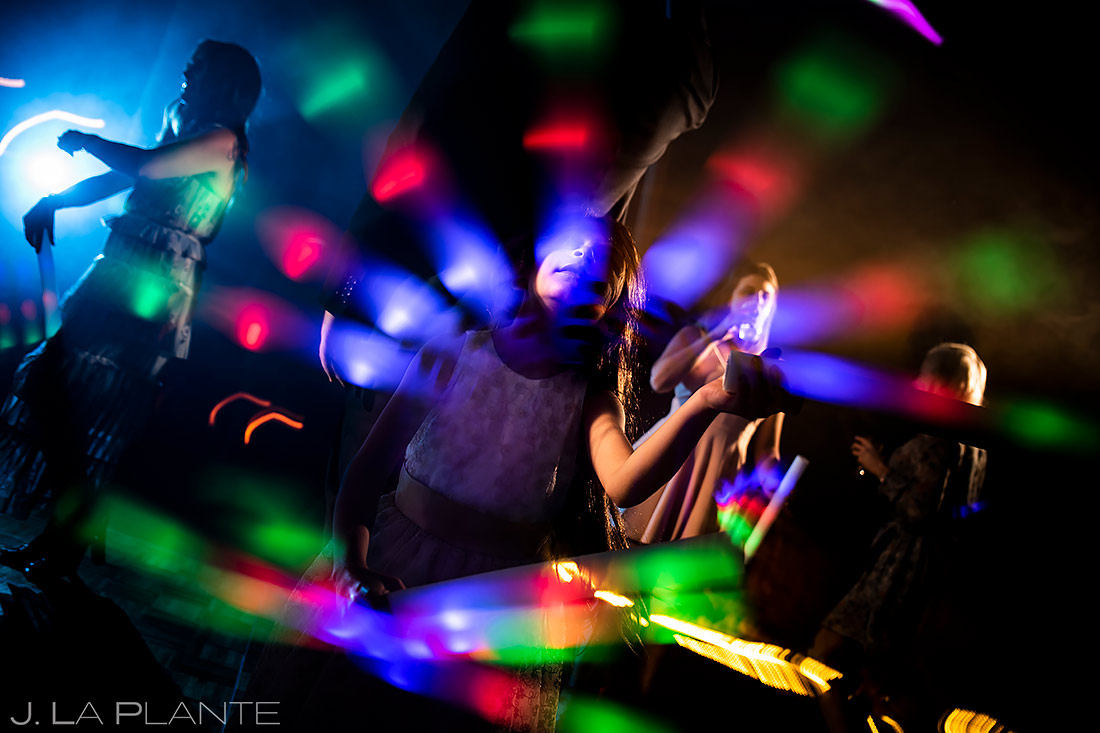 Flower Girl Dancing | Pine Creek Cookhouse Wedding | Aspen Wedding Photographer | J. La Plante Photo