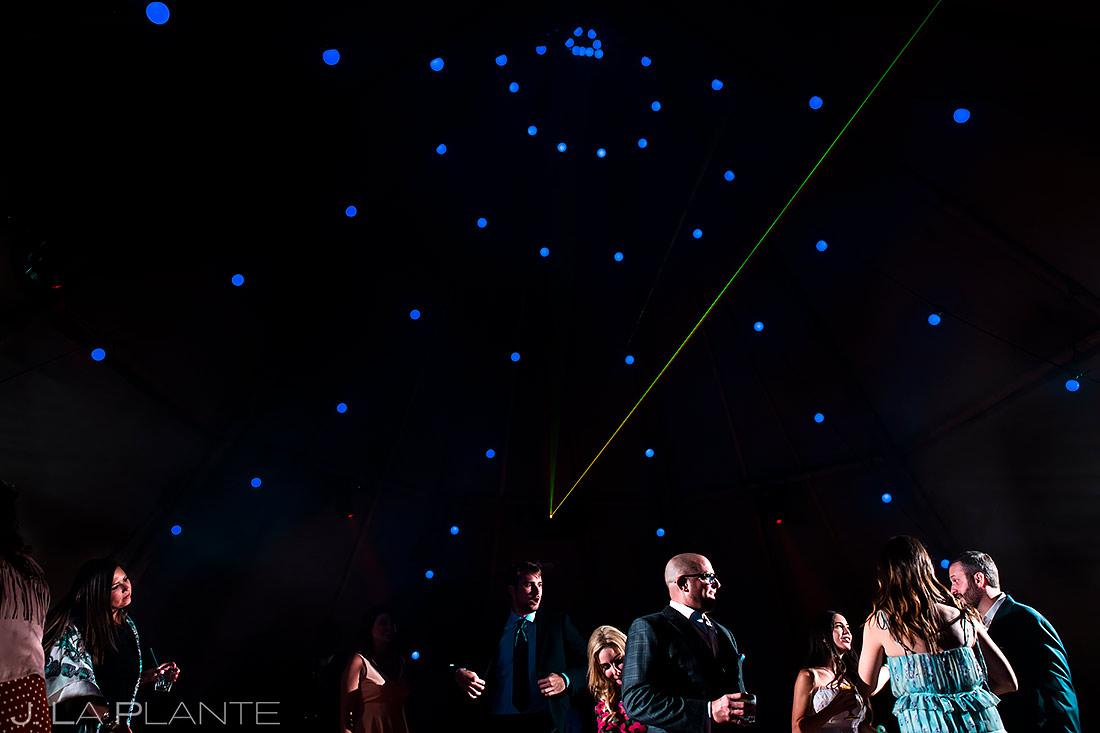 Wedding Reception Dance Party | Pine Creek Cookhouse Wedding | Aspen Wedding Photographer | J. La Plante Photo