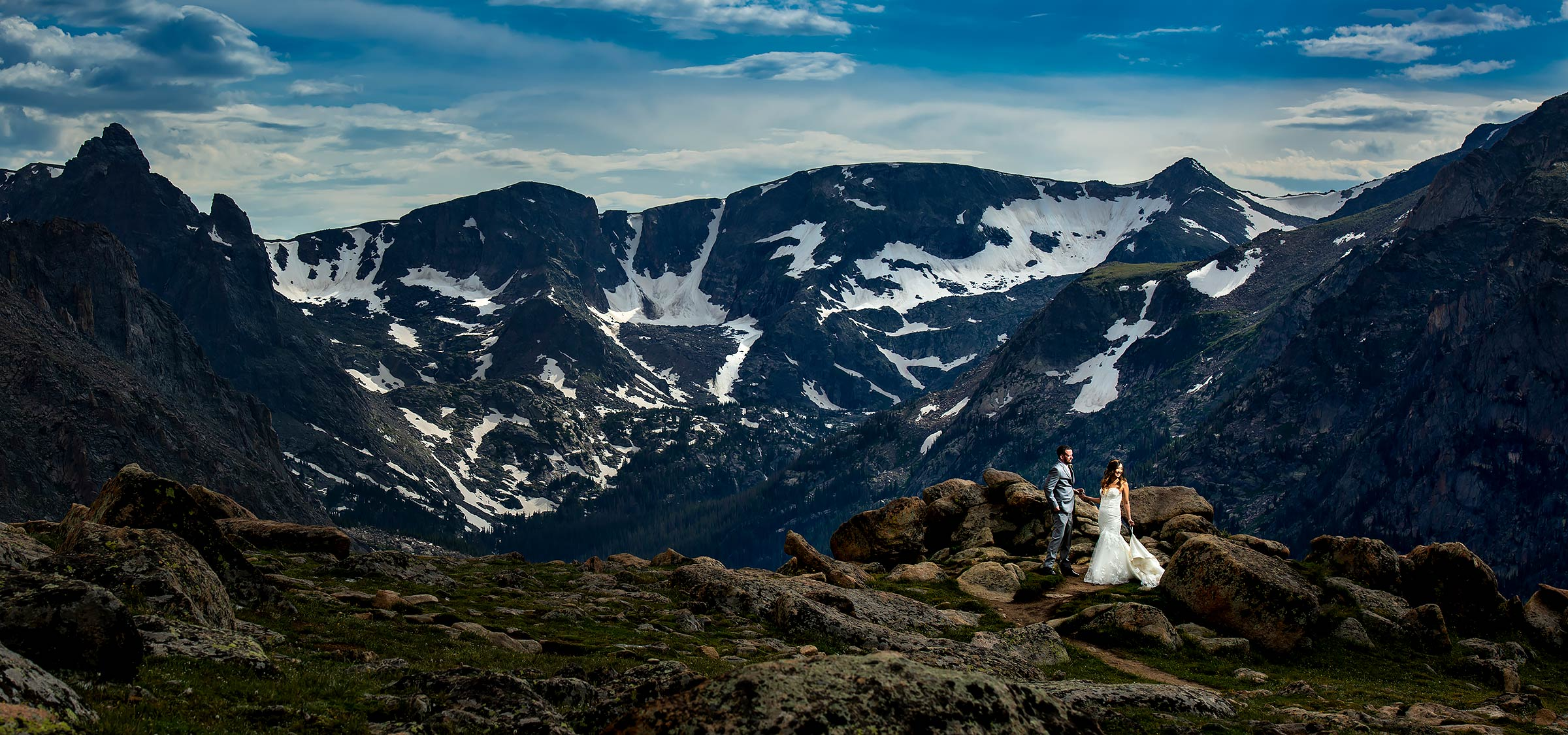 Cool Mountain Wedding Photo | Black Canyon Inn Wedding | Estes Park Wedding Photographers | J. La Plante Photo
