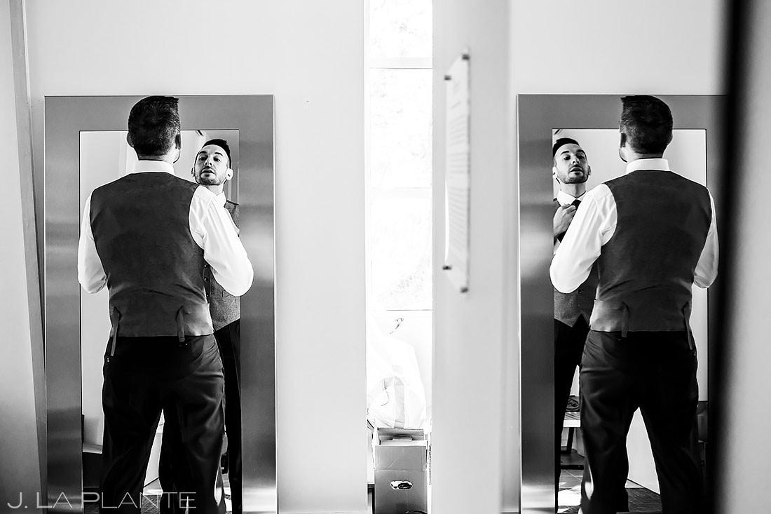 Groom Getting Ready | Aspen Meadows Resort Wedding | Aspen Wedding Photographer | J. La Plante Photo