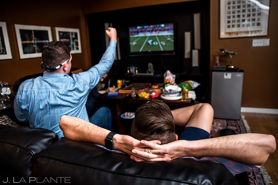 Groomsmen Playing Video Games | Lionsgate Wedding | Boulder Wedding Photographer | J. La Plante Photo