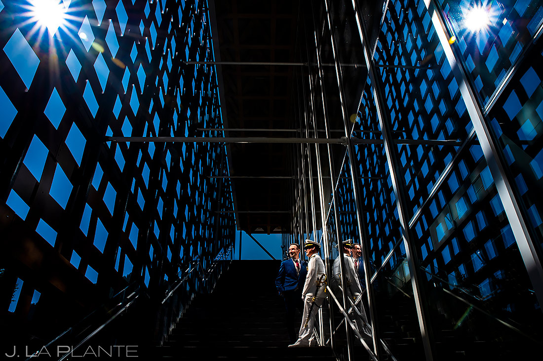 Groom and Groom Portrait   Aspen Meadows Resort Wedding   Aspen Wedding Photographer   J. La Plante Photo