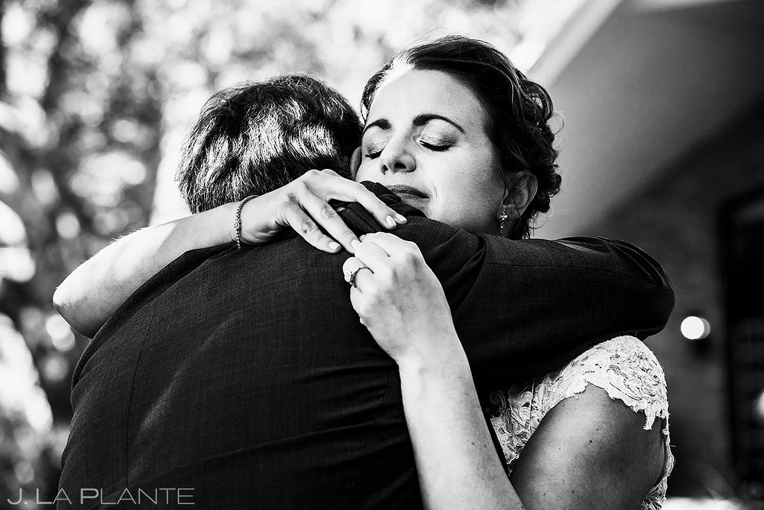 Bride First Look with Father | Boulder Photographer | J. La Plante Photo