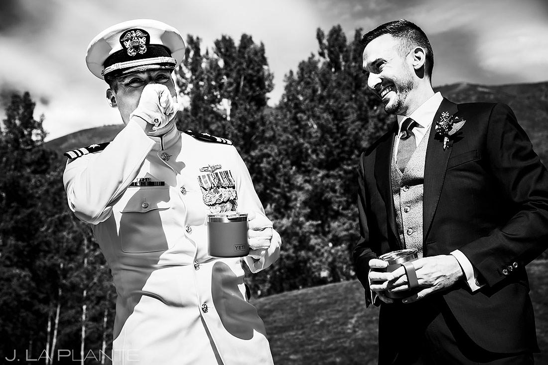 Wedding Surprise for Groom | Aspen Meadows Resort Wedding | Aspen Wedding Photographer | J. La Plante Photo