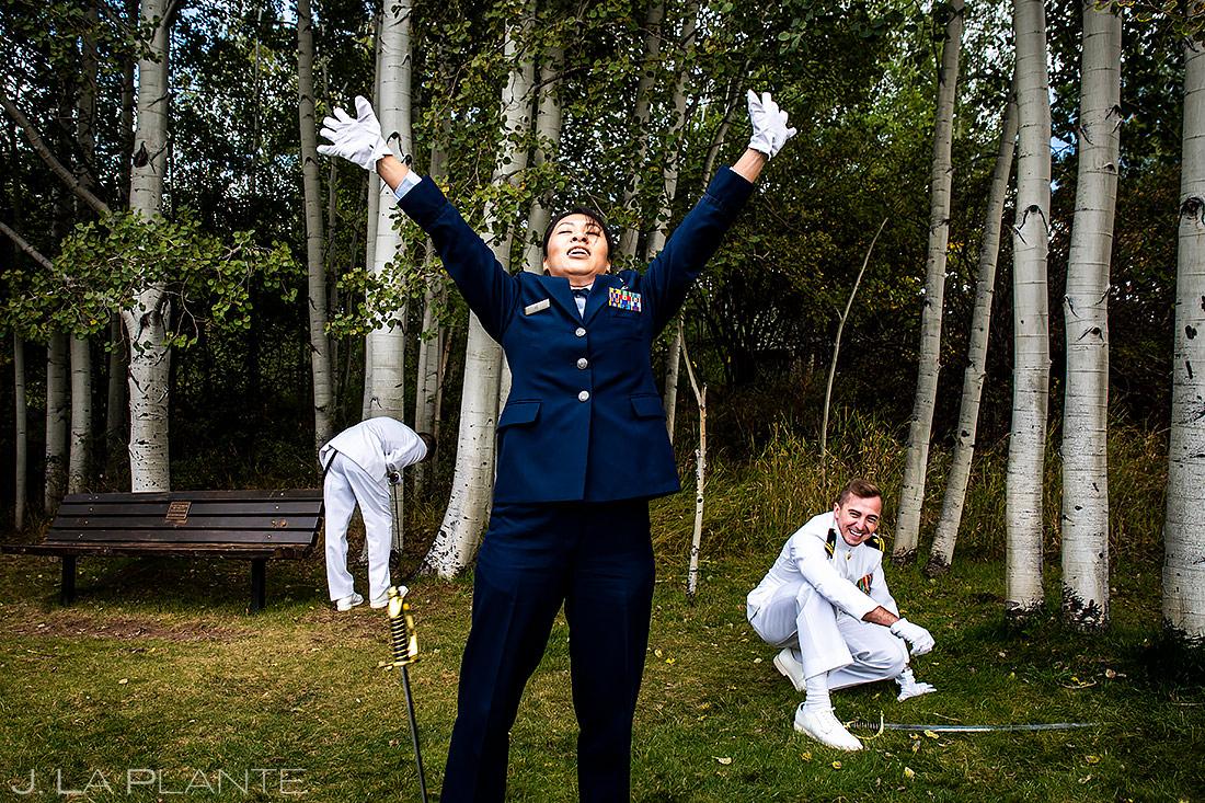 Military Wedding Ceremony | Aspen Meadows Resort Wedding | Aspen Wedding Photographer | J. La Plante Photo