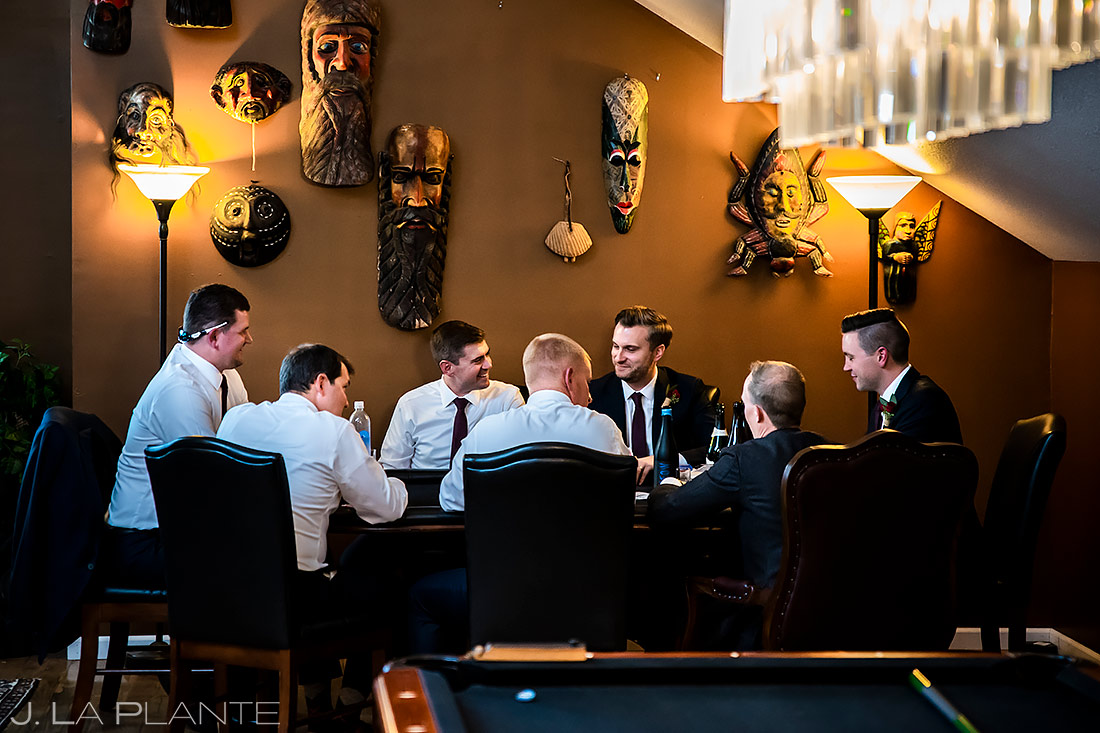 Groomsmen Playing Poker | Lionsgate Wedding | Boulder Wedding Photographer | J. La Plante Photo