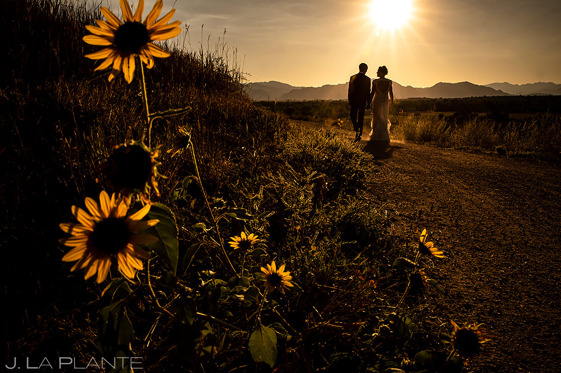 Sunset Wedding Photo | Lionsgate Wedding | Boulder Wedding Photographer | J. La Plante Photo