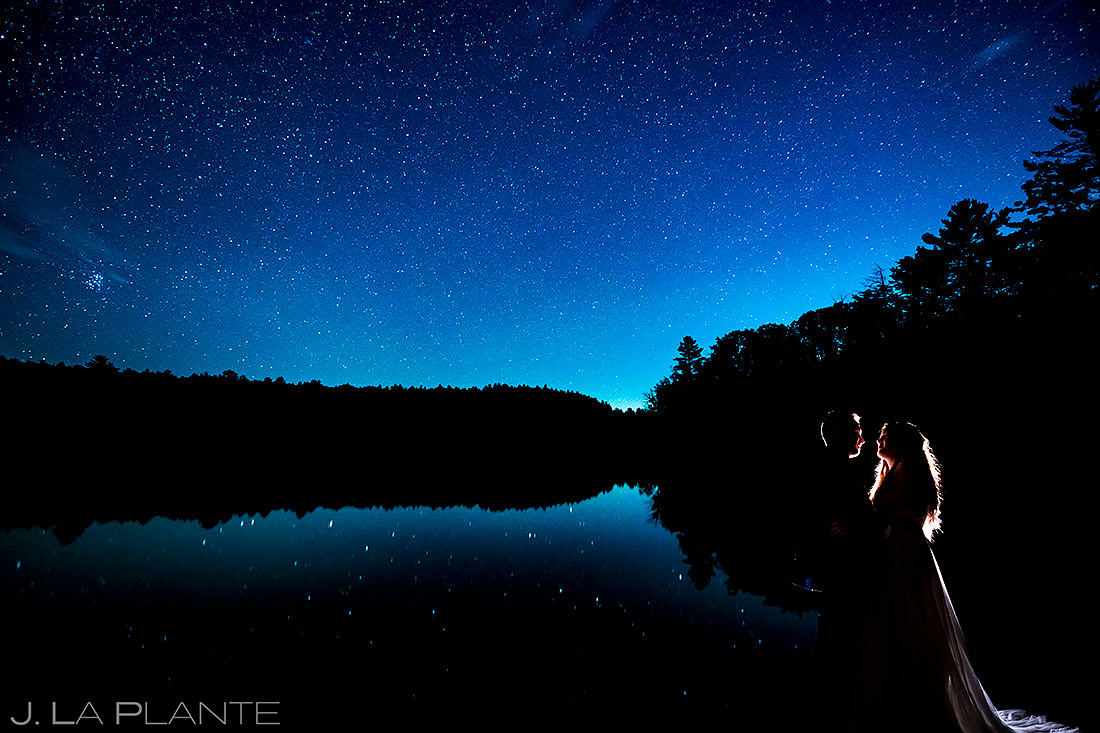 Bride and Groom Under the Stars | New York Destination Wedding | Destination Wedding Photographers | J. La Plante Photo