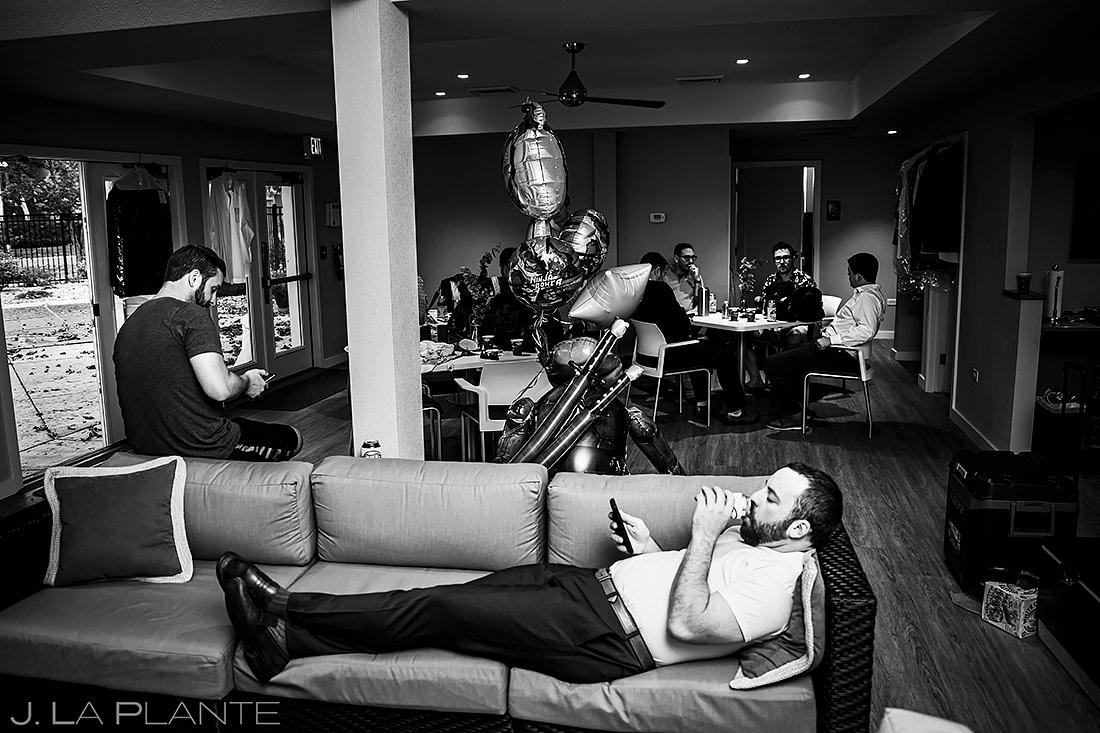 Groomsmen Hanging Out | Denver Wedding | Denver Wedding Photographer | J. La Plante Photo