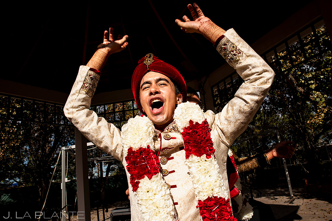 Baraat dancing | Inverness Hotel Wedding | Denver Indian Wedding Photographer | J. La Plante Photo