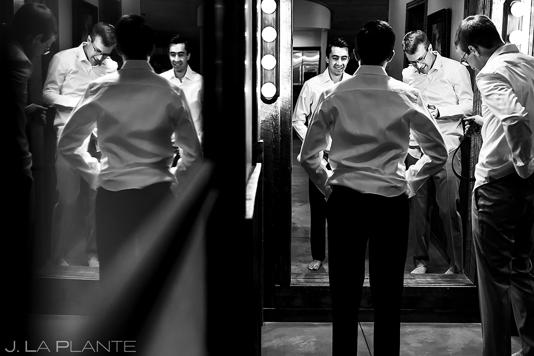 Grooms getting ready | Spruce Mountain Ranch Wedding | Denver Indian Wedding Photographer | J. La Plante Photo