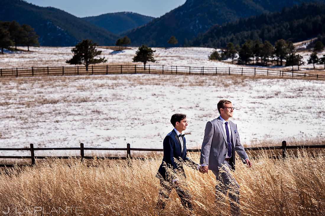 Same sex wedding | Spruce Mountain Ranch Wedding | Denver Indian Wedding Photographer | J. La Plante Photo